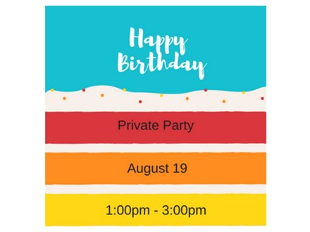 Happy Birthday - Private Paint and Sip - Aug 19