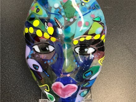 Make a Fused Glass Face 7/30-8/3 1pm