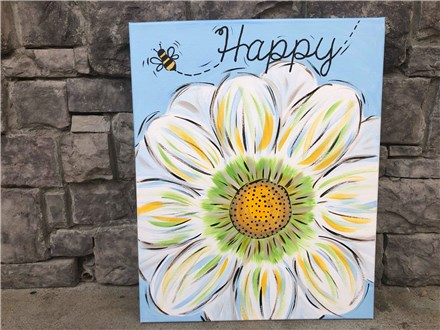 July 5 Be Happy Canvas Class