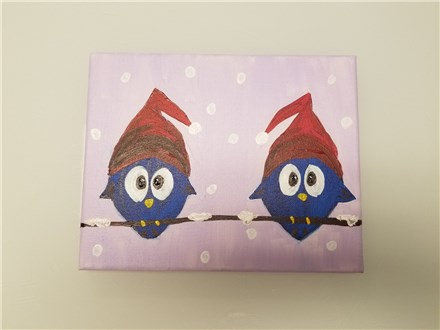 Snowbirds Mommy & Me Canvas Class $40 (age 4 and up)