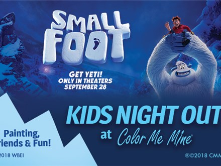 Kids Night Out - SmallFoot! - Sept. 8