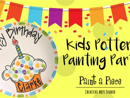 Kids Pottery Painting Party - We are ready to party!