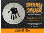 Spooky Spider Handprint Plate Workshop - October 3