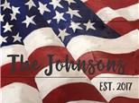 Family Board Art - American Flag - Morning Session - 07.01.17