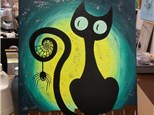 Black Cat Paint Night (Toni) 10/6 6-9PM $35
