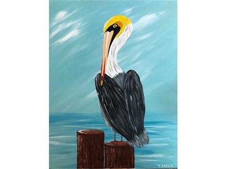 Canvas & Wine Night! Pelican! 4/23/19