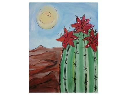 Flowering Cactus - Paint & Sip - Sept 7