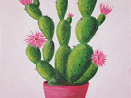 """Paint & Sip """"Cactus in Bloom"""""""