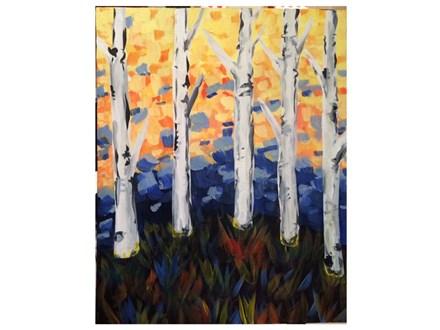 Mt. Washington Adult Birch Tree Canvas - Feb 18th