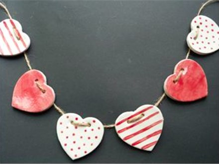 All Ages Clay Class: Heart Garland
