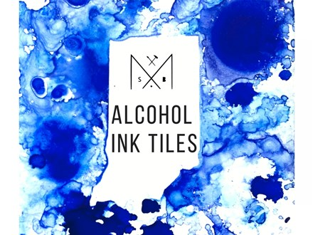 Alcohol + Ink Tile Coasters