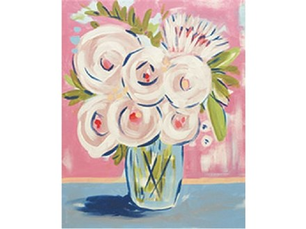 """""""Abstract Peonies"""" Canvas Class, September 25th"""