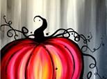 Canvas Painting: Pumpkin -  October 21, 2017