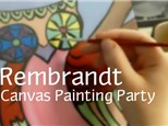 Rembrandt Party Package: Canvas Painting