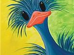Neon Ostrich Canvas