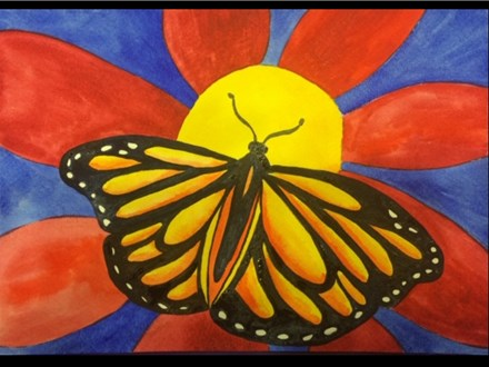 02/19 Guest Artist-Family Friendly-Watercolor: Monarch $25 4PM