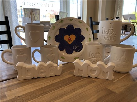 Mothers Day- Pottery and Canvas To Go