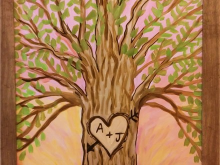 Love Tree Canvas Class