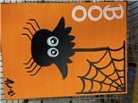 Kids Spider Canvas - October 22