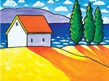 """Waterside Cottage"" Canvas Class, April 22nd"