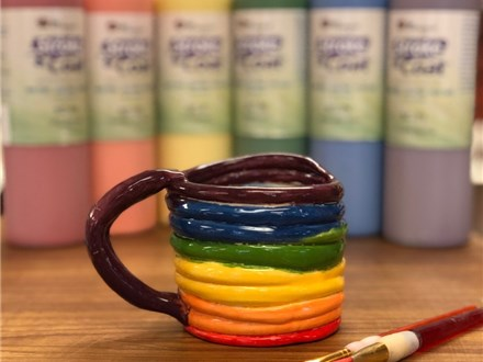 Family Clay - Rainbow Mugs - 05.26.19