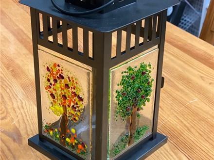 Glass Fused Lantern