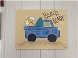 $25 Beach Truck Paint Night (Toni) 6/26 6-9PM
