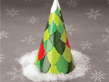 """ Modern Christmas Tree""  To-Go Kit-at Color Me Mine - Aspen"