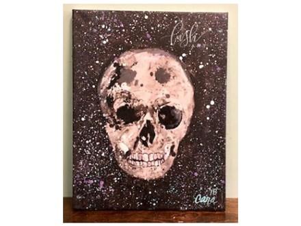 Splatter Skull Paint Class