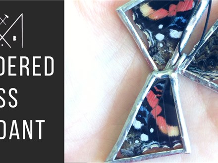 Soldered Glass Pendants