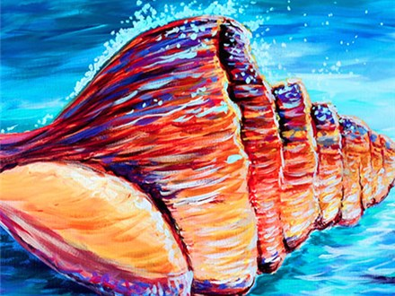 "Canvas Night ""Seashell"" Saturday, July 8th 7-10pm"