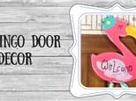 Door Decor - Flamingo