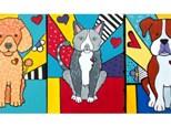 Pet Portrait POP Art style of your pet - 12x16 canvas