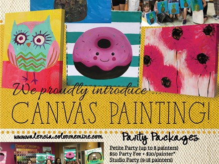 **NEW!!!** Canvas Painting Party (9-18 Painters)