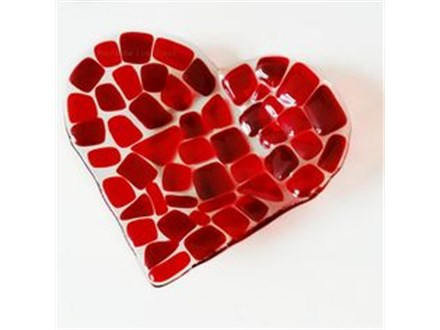 SOLD OUT-Fused Glass Heart Dish or Suncatcher  Saturday Feb 1 9:30am