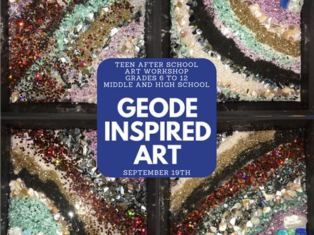 Teen Art Workshop - Geode Inspired Art