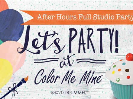 Party At Color Me Mine Maple Grove- Full Studio Rental
