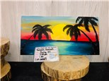 You Had Me At Merlot - Beach Sunset (On Wood) - July 17th