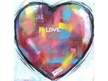 Heart - background colors optional and will differ. Welcome to add any words / message for your special Valentine! 12x12 canvas