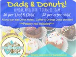 Dads and Donuts Pottery Painting for Mothers Day Gifts!