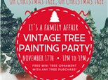 11/17 Vintage Christmas Tree Party @ The Pottery Patch