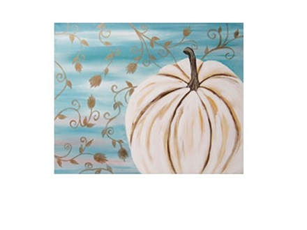 White Pumpkin - Canvas - Paint and Sip