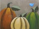 Adult Canvas Night Nov 12th Rustic Pumpkins
