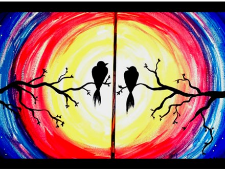 Couples Paint Night at New Beginnings Fellowship Church - 2/11/17
