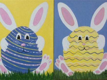 Hoppy Easter - choice design - 12x16 canvas