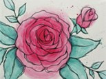 Adult Canvas Night May 21st Watercolor Rose