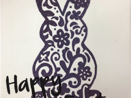 Adult Pottery - Easter Bunny Platter - Morning Session - 04.11.17