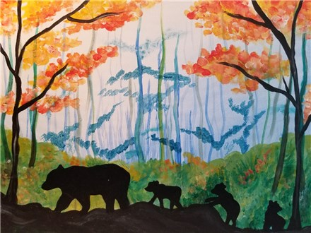 Paint Your Own Canvas Pack - Mama Bear