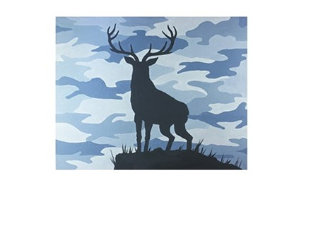 Camo Buck - Canvas - Paint and Sip