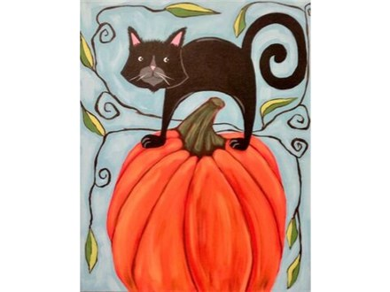 Cat and Pumpkin - Sat. Sept. 28th at 1pm (ages 13+)